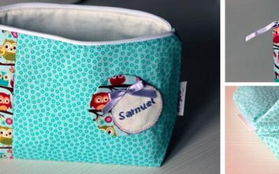 DIY: Cómo hacer un neceser con cremallera para bebés