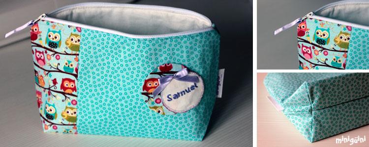 Diy c mo hacer un neceser para beb s con cremallera - Como hacer un cambiador para bebes ...