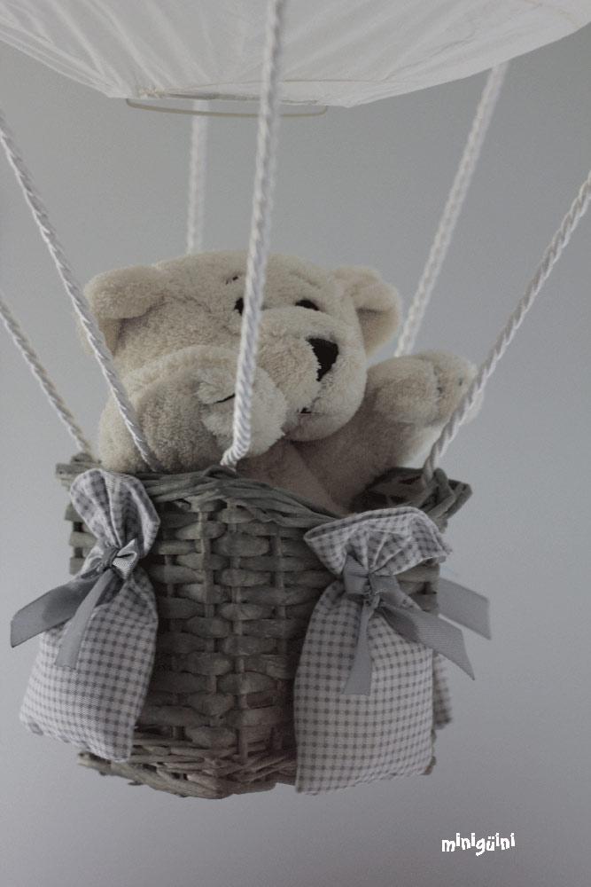 Lámpara globo detalle oso