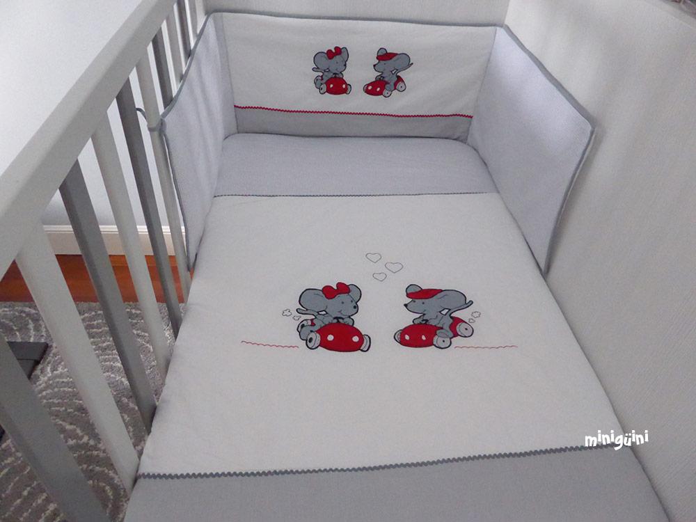 Colcha y chichonera bebé ratones