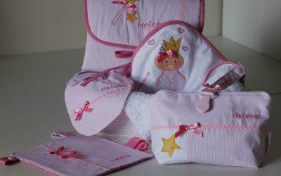 Conjunto canastilla rosa de princesa